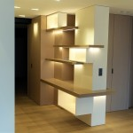 renovation-travaux-appartement-paris-suffren-BOIS-BIBLIOTHEQUE-SUR-MESURE-LED